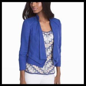 WHBM Linen Cropped Jacket/Blazer Size 8